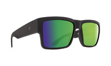 SPY CYRUS MATTE BLACK HAPPY BRONZE POLAR with GREEN SPECTRA.