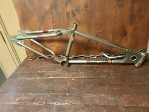 1980 Mongoose Team Goose Supergoose Frame Nickel BMX Products Inc Full CrMo OG