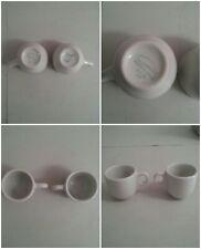Vintage set of 2 Carile Puerto RIco USA White Coffee Mugs Tea Q3 Porcelain