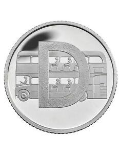 Rare 2019 Alphabet A-Z 10p Ten Pence Coin D-Double Decker Bus From Sealed Bag