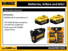 Set of 2 DEWALT XR DCB182 18V 4.0 Ah Lithium Ion BATTERY + DT71540 + TsTAK case