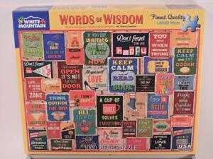 White Mountain Words of Wisdom 1000 Piece Jigsaw Puzzle 24 x 30 Steve Cameron