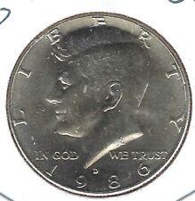 1986-D Denver Nice Circulated Copper-Nickel Clad Copper Strike Half Dollar Coin!