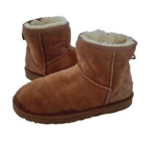 Ugg Boots Australia Classic Mini Chestnut Pull On Ladies Boots UK 6.5 Eur 39 US8