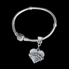 Girlfriend bracelet I love you bangle best girl jewelry my girl jewelry present