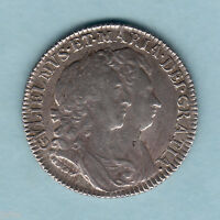 Great Britain. 1693 William & Mary - Shilling.  Trace Lustre..  gVF