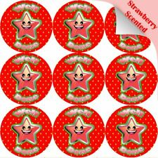 120 Strawberry Well Done Star 30mm Scented Reward Stickers for Teachers