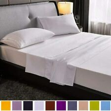 SAKIAO Queen Size Bed Sheets Set - Brushed Microfiber 1800 Thread Count Percale