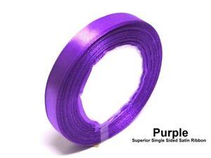 Purple 15mm Satin Ribbon Single Sided Wedding Ribbon Crafts Trimming