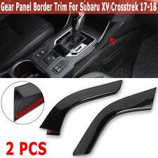 Carbon Fiber Style Gear Shift Panel Strips Trim For Subaru XV Crosstrek 2017-18