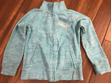 Puma Girls Fleece Jacket Full Zip Fall Turquoise Heather 8/10
