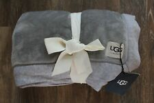 New with Tags UGG Home Duffield Throw Blanket Seal Heather Gray
