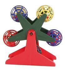 Bird Toy Spinning Ferris Wheel with Rattling Balls Bird Fair Ground Play Toy