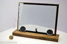 CADRE à photo 24x18 ART DECO design 1950 marbre alu verre débXXè