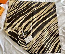 BALENCIAGA Abstract Striped Silk Foulard Scarf 140 X 140cm