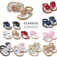 Summer Fashion Newborn Baby Flower Pearl Sandals Toddler Infant Girl Kid Shoes