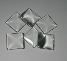 10  X 25MM SQUARE  DOMED  GLASS CABOCHONS