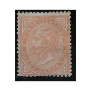 REGNO D'ITALIA 1863 10 CENTESIMI DE LA RUE TIR. LONDRA N. L17 G.I MNH** CERT.