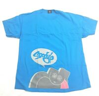 Vintage Moody Mutz NYC New York Graffiti Street Art Blue Tee Size XL T Shirt