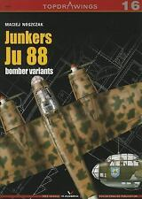 WW2 German Junkers Ju 88 Bomber Variants Top Drawings 16 Reference Book