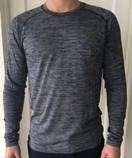 Lululemon Mens Size M Metal Vent Tech Wool LS Long Sleeve Blue White DNVY/WHT
