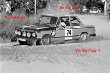 Dieter Kirchhoff & Willi Schwethelm BMW 2002 1000 Lakes Rally 1975 Photograph 1