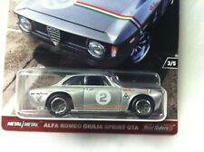 Hot Wheels  Cars and Donuts Alfa Romeo Giulia Sprint GTA   Real Riders