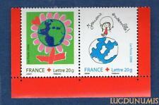 N°3991 3992 - La Paire Bord Croix Rouge TIMBRE NEUF FRANCE 2006