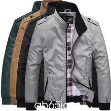 Men's Slim collar jackets fashion jacket Tops Casual coat outerwear XS-XL