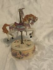 Porcelain Carousel Unicorn/Horse with Music Box. Vintage Classic Toy
