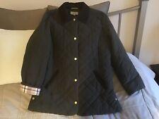M&S Classic Ladies Dark Green Quilted Jacket Tartan Corduroy Trim UK16 EU44