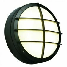 Saxby Lake Large Bulkhead Style Indoor / Outdoor Wall Light Textured Black IP65