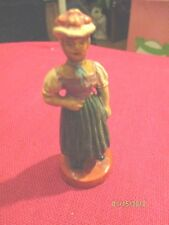 Vintage German PUTZ Clay Composition Figures Native Costume Russia Black Forest