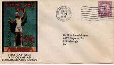 US FDC #718 Olypics, 1st Cachet Olympic Cover Club (8515)