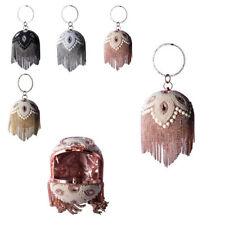 Ladies Pearl Gem Ball Clutch Bag Hoop Bracelet Prom Party Fringe Handbag MMX79