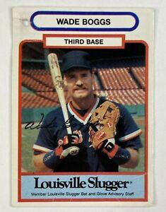 Wade Boggs Louisville Slugger Bat Glove Tag Card