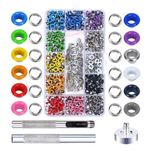480Pcs Grommet Tool Kit Multi-Color Grommet Eyelets with Grommet Setting Tools