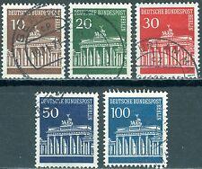 Berlin 286-290 Freimarken Brandenburger Tor gestempelt