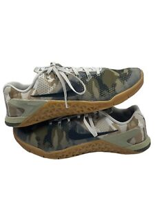 Nike Mens Metcon 4 AH7453-300 Camo Lace up Athletic Training Shoes Size 10.5