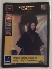Star Wars Young Jedi ccg Queen Amidala, Royal Leader Reflections Foil