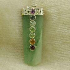 Green Aventurine Reiki Gemstone Pendant Healing 7 Spiritual Chakra Jewelry Gift