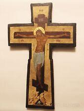 Russian Orthodox Icons. Crucifixion. Cross. Vintage. Religious Icon. Handmade.