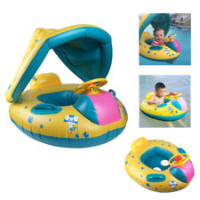 Inflatable Sunshade Baby Aid Kid Float Seat Boat Swimming Pool Ring Wheel Canopy