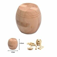 3D Wooden Intelligence Game Wood IQ Puzzle Brain Teaser Tetris Cube Barrel Hot