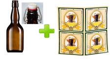 set 100 Etichette adesive + 40 bottiglie birra da 500 ml + 40  tappi meccanici