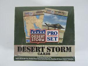 Vintage 1990 Pro Set Desert Storm Trading Cards Factory Sealed Box **D5**