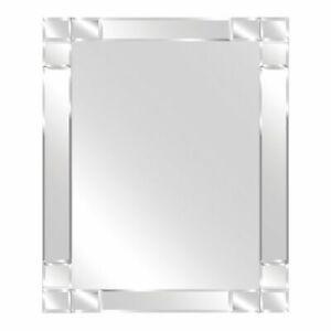 Estilo 900 x 600mm Bevelled Pattern Mirror