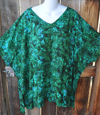 """ART TO WEAR MISSION CANYON 11 SINGLET TUNIC IN ALL NEW OLIVE GARDEN, OS+,54""""B"""