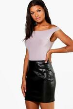Boohoo Leather A-Line Skirts for Women