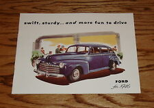 1946 Ford Full Line Car Sales Brochure 46 Convertible Club Coupe Sedan Wagon